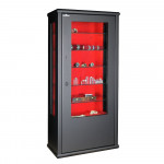Bullet-proof glass safe